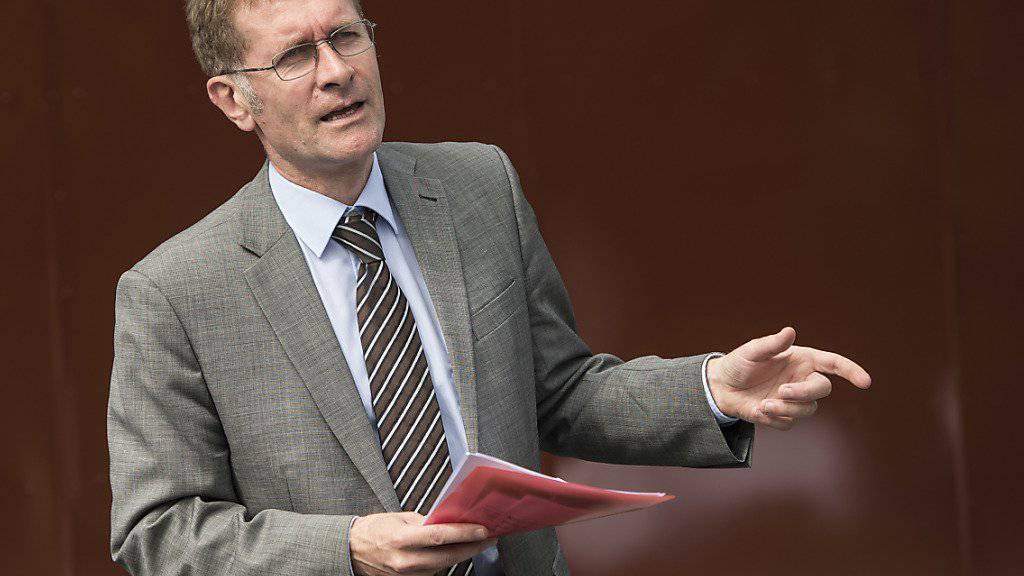 Er bat die Täufer im Namen des Kantons Bern um Verzeihung: Kirchendirektor Christoph Neuhaus (SVP). (Archivbild)