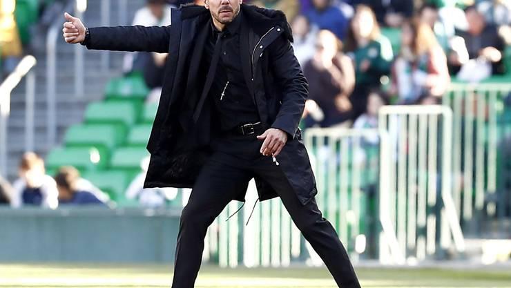 Für einmal ging der Plan von Atléticos Trainer Diego Simeone nicht auf