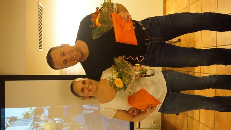 Die neuen Ehrenmitglieder Silvia Läuchli und Simon Hunziker