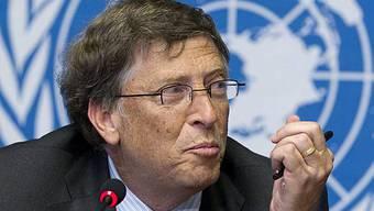 Microsoft-Gründer Bill Gates spricht in Genf