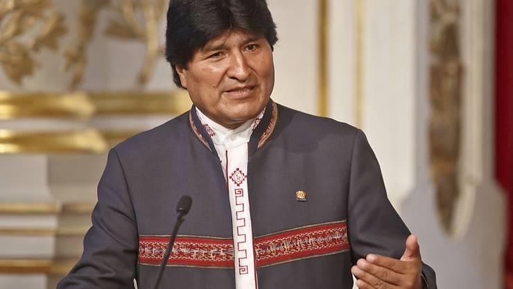 """Einer gegen das Imperium: Evo Morales liess sich in einem Werbespot für eine längere Amtszeit von den """"Star Wars""""-Filmen inspirieren. (Archivbild)"""
