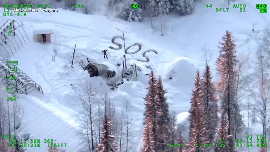 Mann überlebt fast drei Wochen in der eiskalten Wildnis