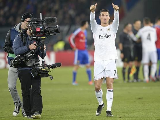 Superstar Ronaldo verlässt mit einem Sieg im Gepäck und einem weiteren Tor auf seinem persönlichen Konto den St. Jakobs Park.