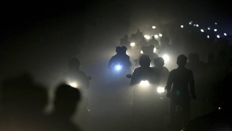 Smog in New Delhi - Umweltschäden führen laut einem Uno-Bericht zu massiven Gesundheitsproblemen. (Archivbild)