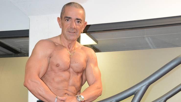 Giovanni Arcadio trainiert regelmässig auf dem Laufband.