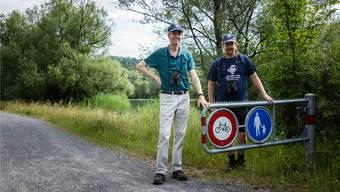 Thomas Burkard (links) und Niklaus Peyer sorgen dafür, dass im Naturschutzgebiet die Regeln eingehalten werden.