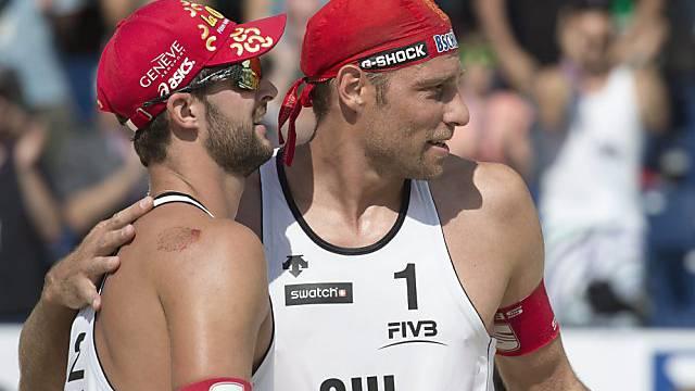 Sascha Heyer (rechts) und Sebastien Chevallier sind im Achtelfinal.