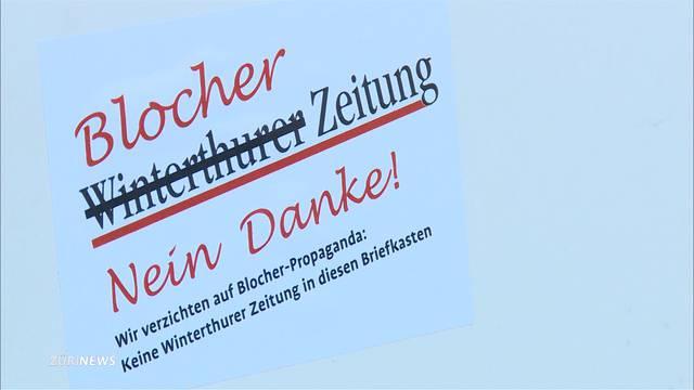 """""""Blocher Zeitung, nein Danke"""""""