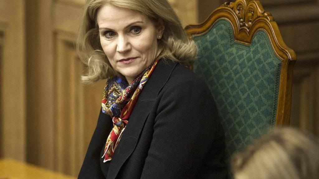 Helle Thorning-Schmidt am Mittwoch im dänischen Parlament.
