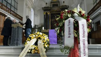 Gedenkgottesdienst nach dem Amoklauf von Menznau in der Kirche St. Paul und Peter in Willisau