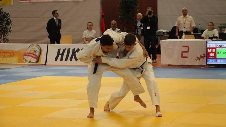 Severin Bersnak vom Judo Sportclub Dietikon konnte in seinem Kampf leider nicht überzeugen.