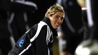 Der spanische Nationalstürmer Fernando Torres im Training vor dem Halbfinal gegen die USA