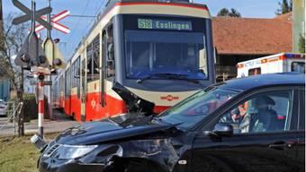 Unfall in Zumikon mit der Forchbahn