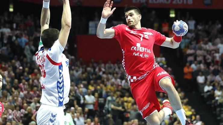 EM-Gastgeber Kroatien gewann sein Auftaktspiel gegen Serbien souverän