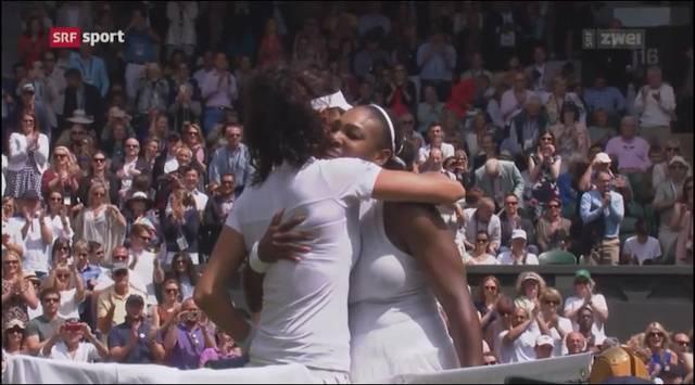 Amra Sadikovics Highlight auf dem Centre Court von Wimbledon gegen Serena Williams