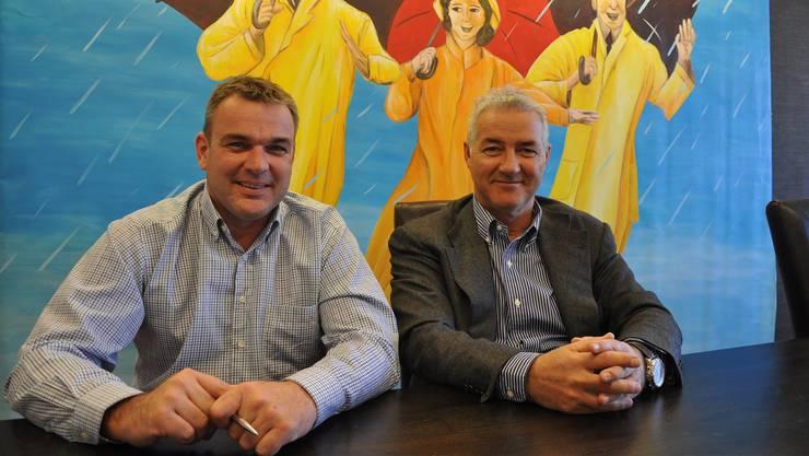 OK-Chef Stefan Schmid und Roger Buholzer, zuständig für Werbung, haben «massenhaft» Ideen. FUO