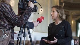 Christa Markwalder im Fokus der Öffentlichkeit.