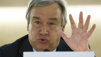 UNO-Flüchtlingskommisar Antonio Guterres in Genf