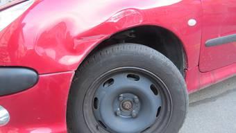 Das beschädigte Auto