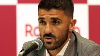 David Villa spricht in Kobe über seinen bevorstehenden Rücktritt
