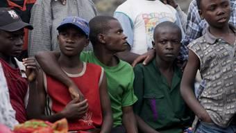 Ehemaligen Kindersoldaten vor einem Jugendheim in Goma (Archiv)