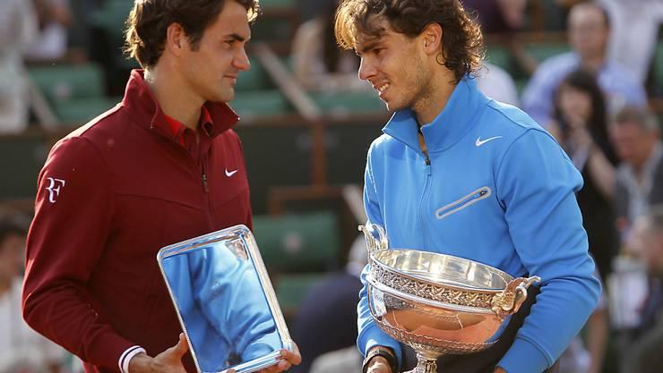 In Paris zog Roger Federer gegen Rafael Nadal bislang immer den Kürzeren - wie hier im Final von 2011