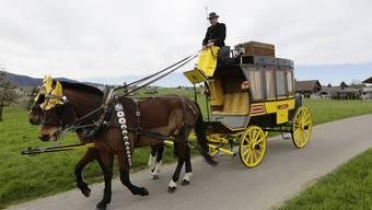 Godi Eichenberger steht am Sonntag und Montag mit seinen beiden Pferden Nadir und Numbi am Zürcher Sechseläuten im Einsatz.