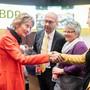 Hat die BDP ohne Alt-Bundesrätin Eveline Widmer-Schlumpf eine Zukunft? Das Foto stammt von der Jubiläumsfeier 10 Jahre BDP Schweiz. (KEYSTONE/Ennio Leanza, 3. November 2018)