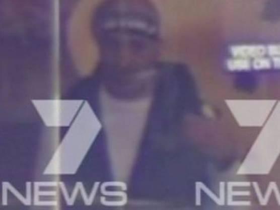 Eine Aufnahme des Geiselnehmers auf Channel 7 News