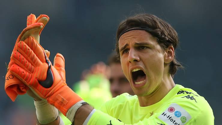 Dortmunds Schweizer Goalie Yann Sommer freut sich über den Zu-Null-Sieg gegen Wolfsburg