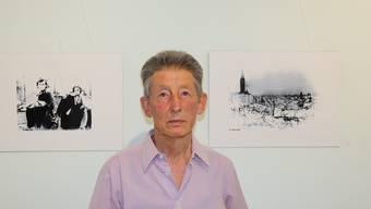 Werner Schwab hat Siebdrucke von Fotos des Ersten und Zweiten Weltkriegs angefertigt.