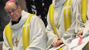 Ist wegen öffentlicher Aufforderung zu Verbrechen oder zur Gewalttätigkeit angzeigt worden: der Churer Bischof Vitus Huonder.