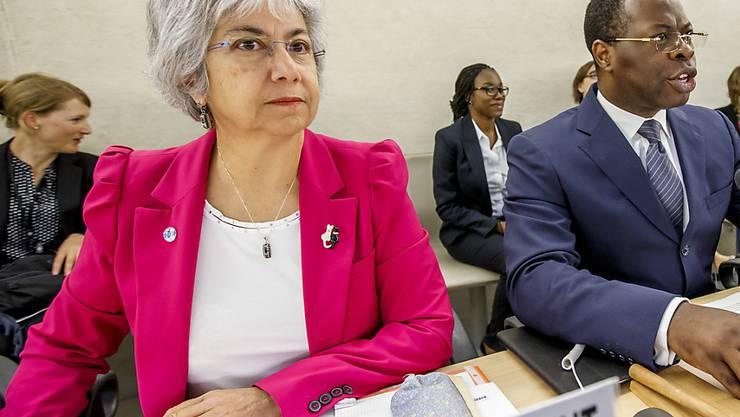 Flavia Pansieri bei einer Sitzung des UNO-Menschenrechtsrats: Die Italienerin tritt von ihrem Posten als stellvertretende UNO-Menschenrechtskommissarin zurück. (Archivbild)