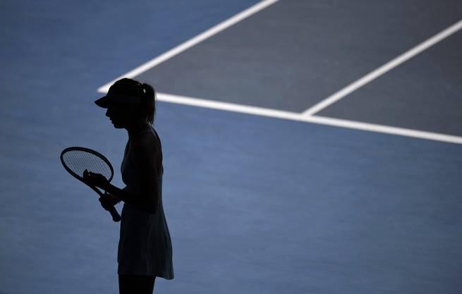 An den Australian Open erwischt: Maria Scharapowa.