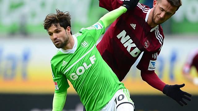 Wolfsburg verliert Diego  (l.) wohl an Atletico Madrid
