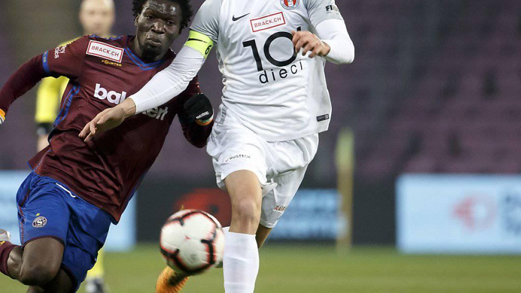 Matchwinner: FCRJ-Verteidiger Egzon Kllokoqi (rechts) erzielt den Siegtreffer gegen Kriens. (Archivbild)
