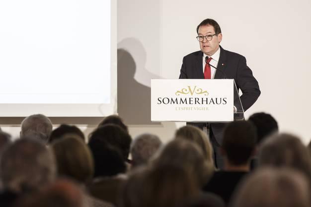 Buchvernissage zum neuen Kunstführer über das Sommerhaus de Vigier in Solothurn: Ansprache von Staatsschreiber Andreas Eng