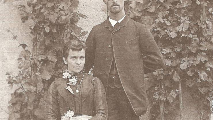 Die Dichterin Sophie Marti mit Max Haemmerli als junges Paar 1890. Stadtarchiv Lenzburg
