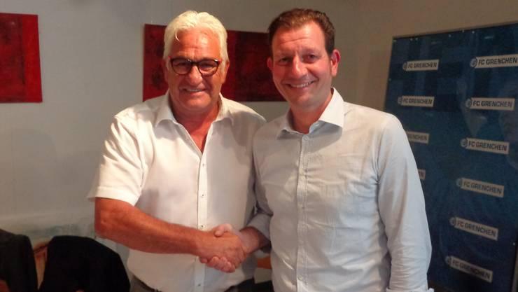 Präsident Marcel Bolliger (links) und sein designierter Nachfolger Giovanni Eterno wollen den FCG 15 wieder in die Erfolgsspur bringen.