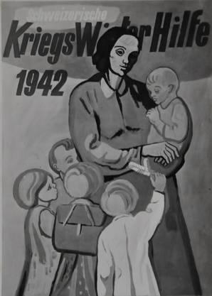 Zeit seines Lebens arbeitete Hans Brunner als Grafiker. Er half auch den Schwachen, fertigte dieses Plakat für die Schweizer Kriegswinterhilfe an.
