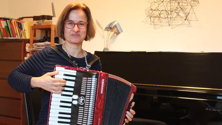 Der Musikunterricht von Edith Schelling findet oft auch bei ihr Zuhause statt.
