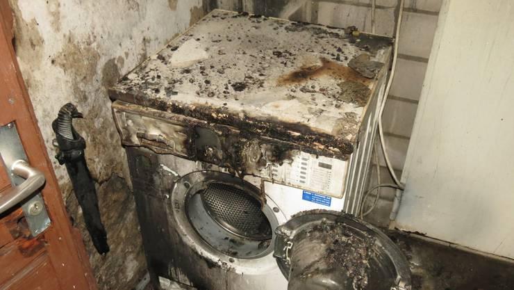 Der Brand ist vermutlich im Wäschetrockner ausgebrochen.