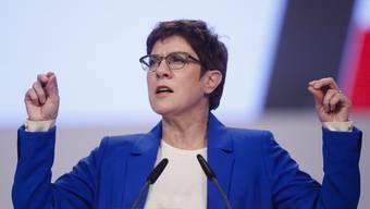 CDU-Chefin Annegret Kramp-Karrenbauer bei ihrer Rede am Parteitag in Leipzig.