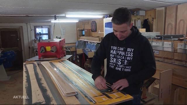 Aargauer-Skibauer produziert in Bauernhaus