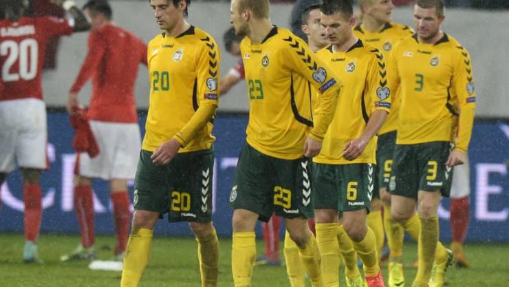 Kein guter Abend: Litauens Fussballer verloren auf Malta