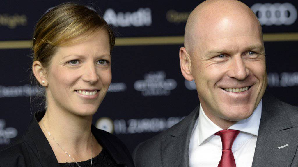 Didier Cuche und Manuela Fanconi vorletzten Donnerstag auf dem Zurich Film Festival (Archiv).