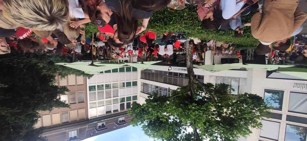 Fans der Schweizer Nati bei der St.Galler Südbar