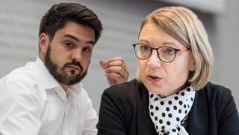 Haben das Heu beim SP-Wirtschaftspapier nicht auf der gleichen Bühne: Cédric Wermuth und Yvonne Feri.