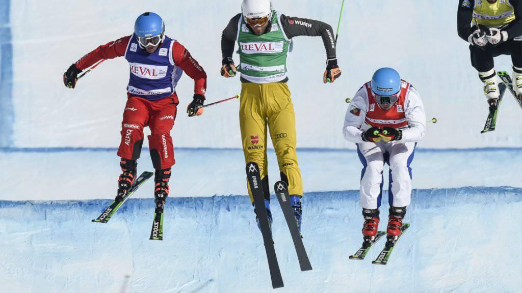Patrick Gasser (links) im Februar 2015 beim Weltcup in Arosa