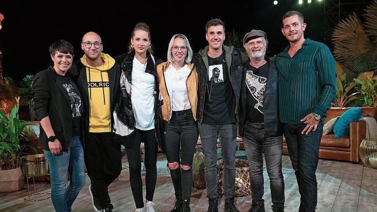 Überraschend vielfältig (von links): Francine Jordi, Ritschi, Steff la Cheffe, Stefanie Heinzmann, Seven, Marc Storace, Loco Escrito.